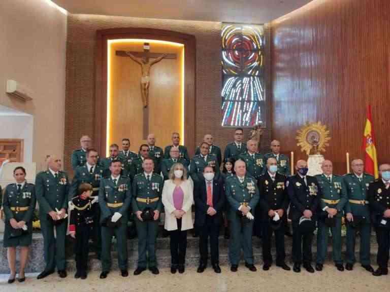 La Guardia Civil de Puertollano celebró misa por el día de la Fiesta Nacional y de su patrona, la Virgen del Pilar