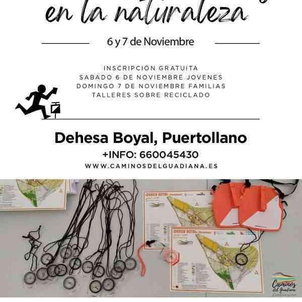 Orientación y reciclaje en la Naturaleza para jóvenes y familias de Puertollano el 6 y 7 de noviembre