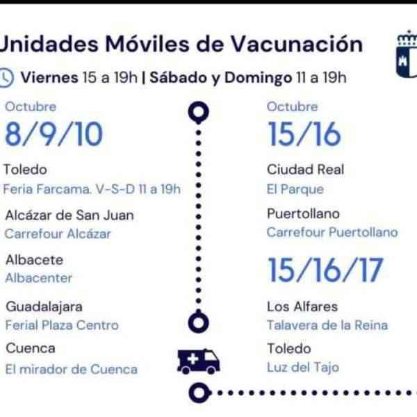 Este fin de semana funcionará una unidad móvil de vacunación en el Carrefour de Puertollano